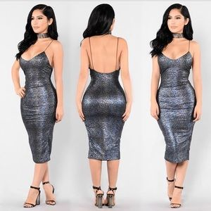 Fashion Nova Forget you Midi Dress